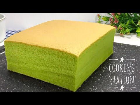 Pandan Cotton Sponge Cake Recipe เค้กไข่ใบเตย สูตรเค้กไข่ญี่ปุ่น เนื้อนุ่มๆ ไม่ใส่ผงฟู